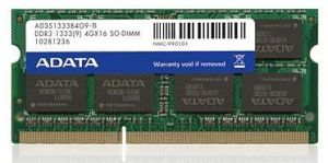 ADATA SO-DIMM 4GB, DDR3-1333, CL9-9-9-24