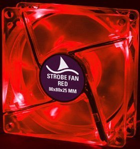 Sharkoon Strobe Fan czerwony 80mm