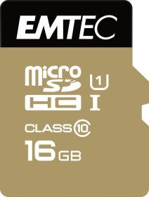 Emtec R85/W21 microSDHC Gold+ 16GB Kit, UHS-I U1, Class 10 (ECMSDM16GHC10GP)