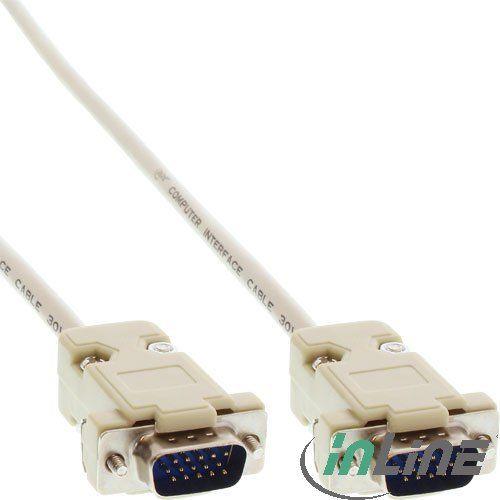 InLine VGA-Kabel Stecker/Stecker geschraubt 1m (17707A)