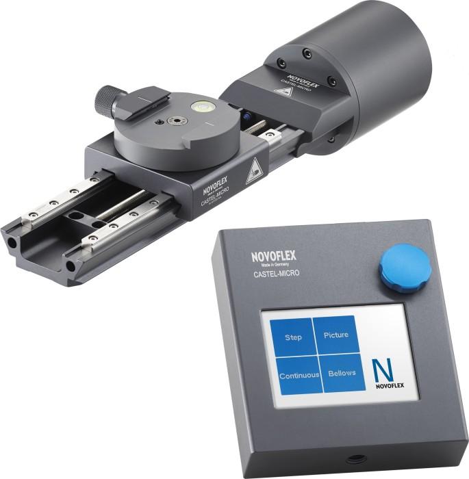 Novoflex Einstellschlitten elektronisch gesteuert, inkl. Steuergerät (CASTEL-MICRO)