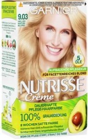 Garnier Nutrisse shining blonde hair colour 9.03 light natural blonde