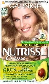 Garnier Nutrisse shining blonde hair colour 8.13 golden ash blonde
