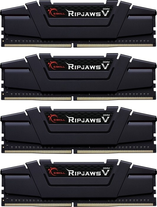 G.Skill RipJaws V black DIMM kit 32GB, DDR4-3200, CL14-14-14-34 (F4-3200C14Q-32GVK)