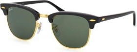 Ray-Ban RB3016 Clubmaster Classic 51mm black-gold/green (RB3016-W0365)