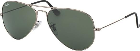 Ray-Ban RB3025 Aviator Classic 58mm gunmetal/grün (W0879) -- ©Glasses&Co