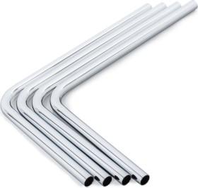 Bitspower HardTube Messing Rohr 90°, 30/22cm, 14/12mm, silber, 4er-Pack (BP-BHT14SL-90R)