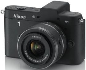 Nikon 1 V1 schwarz mit Objektiv VR 10-30mm 3.5-5.6 (VVA101K001)