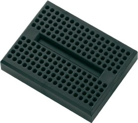 Breadboard, number of pins 170, 46x36mm, black (various Manufacturer)