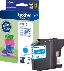 Brother Tinte LC221C cyan