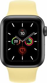 Apple Watch Series 5 (GPS) 40mm Aluminium space grau mit Sportarmband zitruscreme