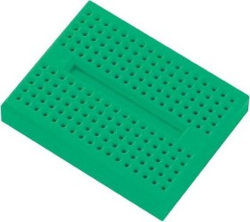 Breadboard, number of pins 170, 46x36mm, green (various Manufacturer)