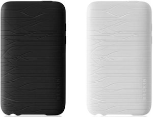 Belkin Grip Two-Toned Pulse Duo silicone sleeve for iPod touch 3G black/clear (2-pack) (F8Z532cw066-2)