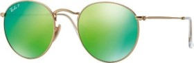 Ray-Ban RB3447 Round Metal 50mm gold/polarized green (RB3447-112/P9)