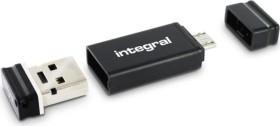 Integral USB OTG Adapter with Fusion 2.0 4GB, USB-A 2.0/USB 2.0 Micro-B (INFD4GBFUSWHOTGAD)