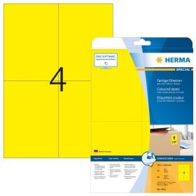 Herma Etiketten ablösbar A6, gelb, 20 Blatt (4561)