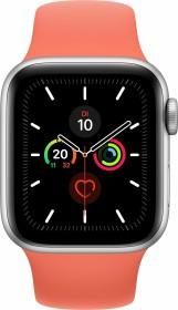 Apple Watch Series 5 (GPS) 40mm Aluminium silber mit Sportarmband clementine