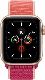 Apple Watch Series 5 (GPS) 40mm Aluminium gold mit Sport Loop granatapfel