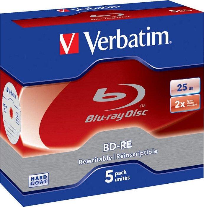 Verbatim BD-RE 25GB 2x, 5er Jewelcase (43615)