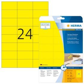 Herma Etiketten ablösbar 70x37mm, gelb, 20 Blatt (4466)