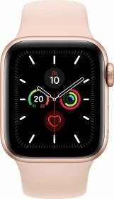 Apple Watch Series 5 (GPS) 44mm Aluminium gold mit Sportarmband sandrosa (MWVE2FD)