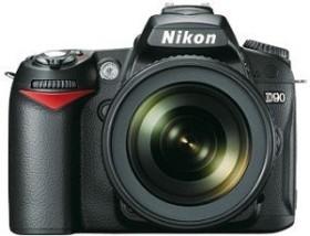 Nikon D90 schwarz mit Objektiv AF-S VR DX 18-55mm 3.5-5.6G Fatbox (VBA230KG16)