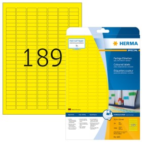 Herma Etiketten ablösbar 25.4x10mm, gelb, 20 Blatt (4243)