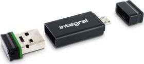 Integral USB OTG Adapter with Fusion 2.0 16GB, USB-A 2.0/USB 2.0 Micro-B (INFD16GBFUSBLOTGAD)