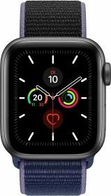 Apple Watch Series 5 (GPS) 40mm Aluminium space grau mit Sport Loop mitternachtsblau