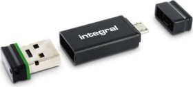 Integral USB OTG Adapter with Fusion 2.0 32GB, USB-A 2.0/USB 2.0 Micro-B (INFD32GBFUSGROTGAD)