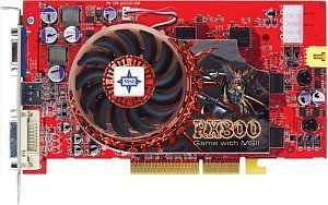 MSI RX800PRO-TD256, Radeon X800 Pro, 256MB DDR3, DVI, TV-out, AGP (MS-V802-004)