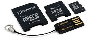 Kingston microSD 2GB Mobility-Kit G2, Class 4 (MBLYG2/2GB)