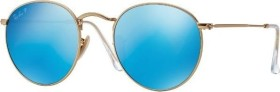 Ray-Ban RB3447 Round Metal 50mm gold/polarized blue (RB3447-112/4L)