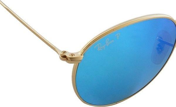 Ray-Ban RB3447 Round Metal 50mm gold polarized blue (112 4L) ab € 137,59  (2019)   heise online Preisvergleich   Deutschland 786a8e95e717