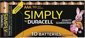 Duracell Simply Micro AAA, 10-pack