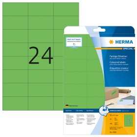 Herma Etiketten ablösbar 70x37mm, grün, 20 Blatt (4469)