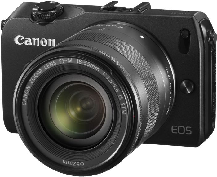 Canon EOS M (EVIL) black with lens EF-M 18-55mm 3.5-5.6 IS STM (6609B041)
