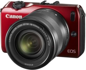 Canon EOS M rot mit Objektiv EF-M 18-55mm 3.5-5.6 IS STM (6612B032)