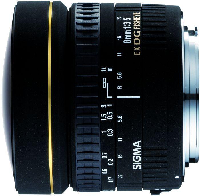 Sigma AF 8mm 3.5 EX DG circular fisheye for Pentax K black (485960)