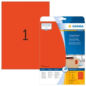 Herma Etiketten ablösbar A4, rot, 20 Blatt (4422)