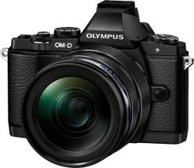 Olympus OM-D E-M5 schwarz mit Objektiv M.Zuiko digital ED 12-40mm (V2040461E000)