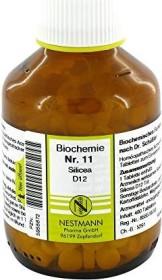 Nestmann Biochemie 11 Silicea D12 Tabletten, 400 Stück