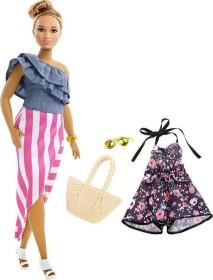 Mattel Barbie Fashionistas mit blümchen Jumpsuit und goldener Sonnenbrille Curvy (FRY82)
