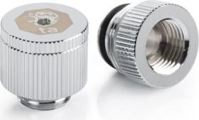 """Bitspower Touchaqua Wasserauslass 1/4"""", Glorious Silver, 2er-Pack (BPTA-EFW-V2-GS)"""