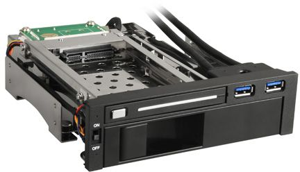 "Sharkoon SATA Quickport internal Multi, 5.25"" SATA 6Gb/s hard drive caddy"