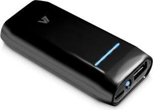 V7 Portable USB Power Bank 4400mAh schwarz (PB4400-1-BLK-20E)