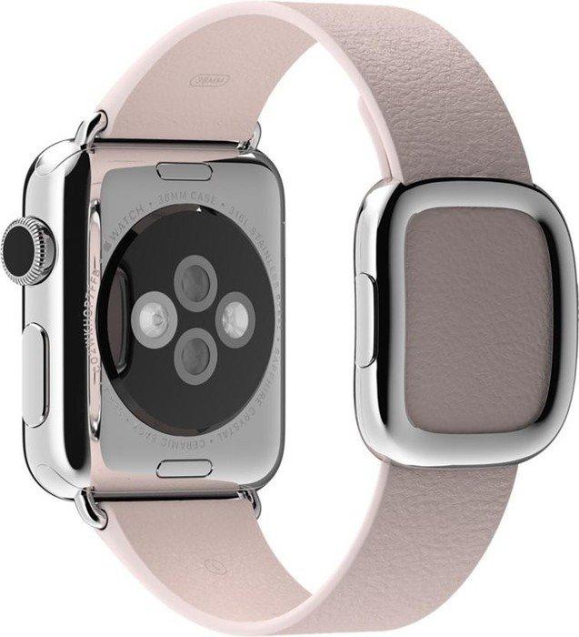 Apple modernes Lederarmband Medium für Apple Watch 38mm pink (MJ582ZM/A)