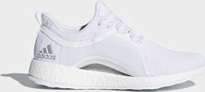 adidas Pure Boost X ftwr white/silver metallic/core black (ladies) (BY8926)