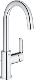 """Grohe BauEdge one-hand-bathroom sink tap 1/2"""" L-Size with drain remote chrome (23760000)"""