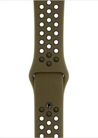 Apple Nike Sportarmband S/M und M/L für Apple Watch 44mm olivgrün/schwarz (MTP42ZM/A)
